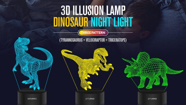 Tapping challenge on tiktok using the dinosaur night light